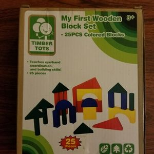 NEW IN BOX MY FIRST 25 PC WOODEN COLOR BLOCKS SET